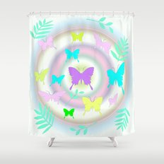 butterfly station Shower Curtain