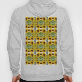 193 - Sunflower abstract pattern Hoody