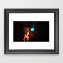 Cavern of Light Framed Art Print