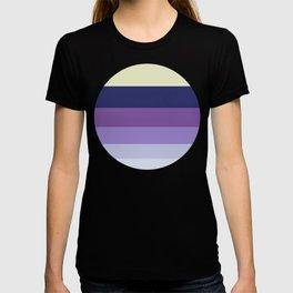 Purple Geometric Stripe Pattern T-shirt