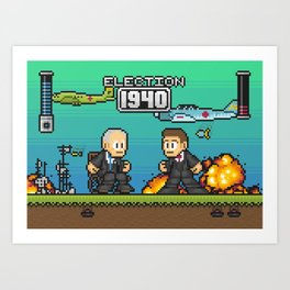 Pixelections - 1940 Art Print