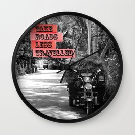 Hay under palm trees Wall Clock