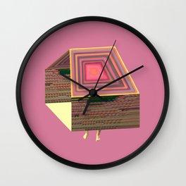Pink Virtual House Wall Clock