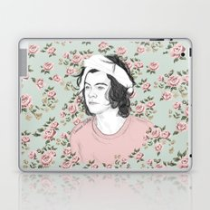 H circle floral  Laptop & iPad Skin