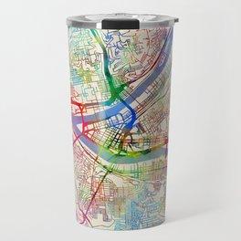 Pittsburgh Pennsylvania Street Map Travel Mug