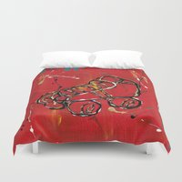 skate Duvet Covers featuring Skate by Robin Lee Artist