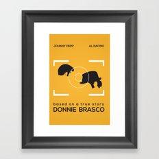 Minimal Poster | Donnie Brasco Framed Art Print
