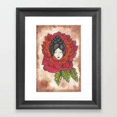 Lady in Rose Framed Art Print
