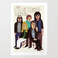 velvet underground Art Prints featuring The Velvet Underground by Angela Dalinger