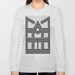Black and White M Long Sleeve T-shirt