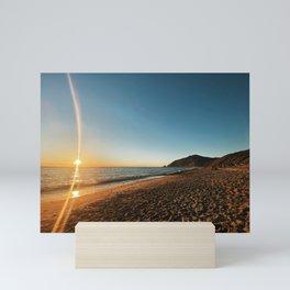 Malibu Beach at Sunset Mini Art Print