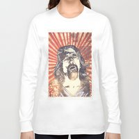 the big lebowski Long Sleeve T-shirts featuring Big Lebowski by Tommy Lennartsson