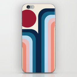 Waterfalls and Sun (Abstraction artwork) iPhone Skin