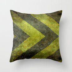 Warning Chevron #101 Throw Pillow