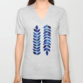 Tropical Indigo Unisex V-Neck