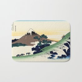 """Hokusai (1760-1849)  """"Inume Pass"""" Bath Mat"""