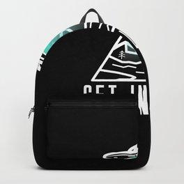 Retro Vintage Get In Loser Alien Gift Funny design Backpack