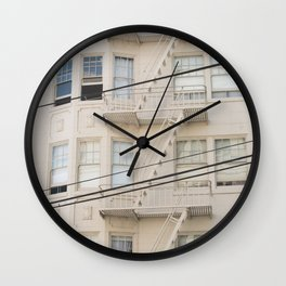 Architecture San Francisco Wall Clock