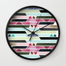 Aztec Stripe Wall Clock
