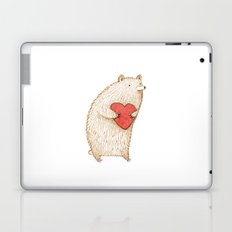 Bear with Heart Laptop & iPad Skin