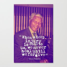 Inspirational Quotes - Motivational - 98 Nelson Mandela Canvas Print