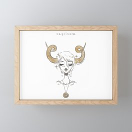 Capricorn Framed Mini Art Print