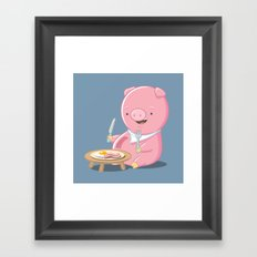 I Love Bacon Framed Art Print