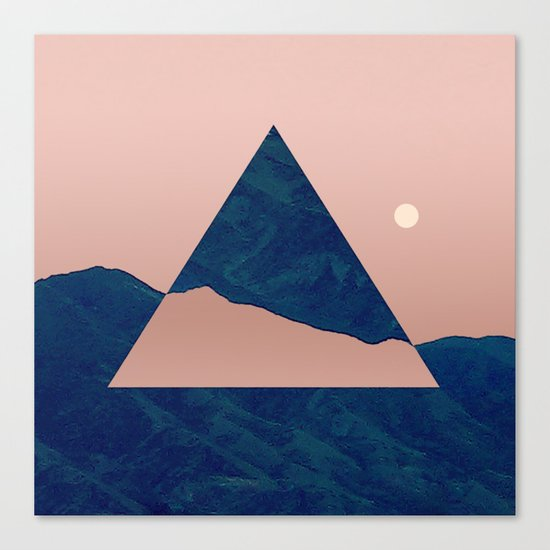 Triangle - Opposite Canvas Print