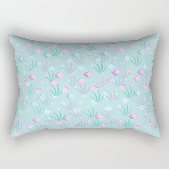 Floating Blocks Pastel Abstract Rectangular Pillow