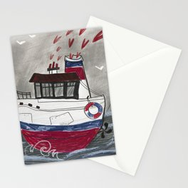 A boat Stationery Cards