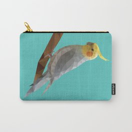 Yellow Cockatiel Bird Polygon Art Carry-All Pouch