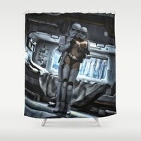 sci fi Shower Curtains featuring Sexy Sci-Fi 3 by gypsykissphotography