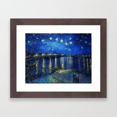Starry Night Over the Rhone by Vincent van Gogh Framed Art Print