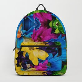 Hugging Colored Flowers (Mandala #121c) Backpack