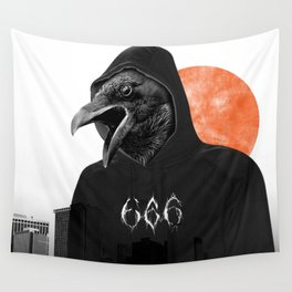 The Satanic Metal Crow Wall Tapestry