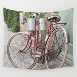 Red Bike Wall Tapestry