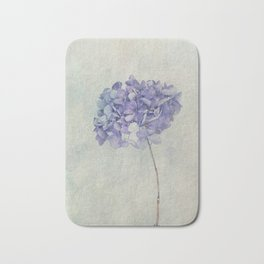 Beautiful Blue Hydrangea Bath Mat
