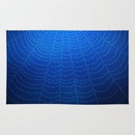 Blue Spider Web Rug