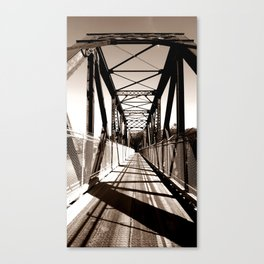 Shadowed Bridge Canvas Print