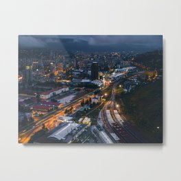 Night City View Metal Print