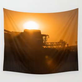 Midsummer time is harvest time of the cereal fields Wall Tapestry