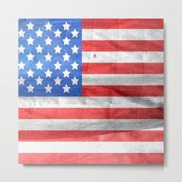 America flag 4 Metal Print