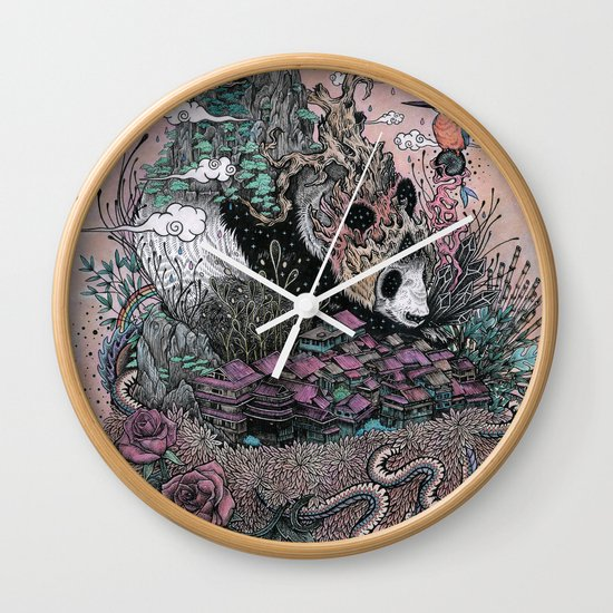 Land of the Sleeping Giant Wall Clock