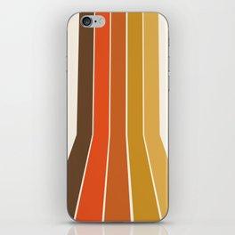 Righteous - 70s style throwback rainbow art 1970s minimalist art iPhone Skin