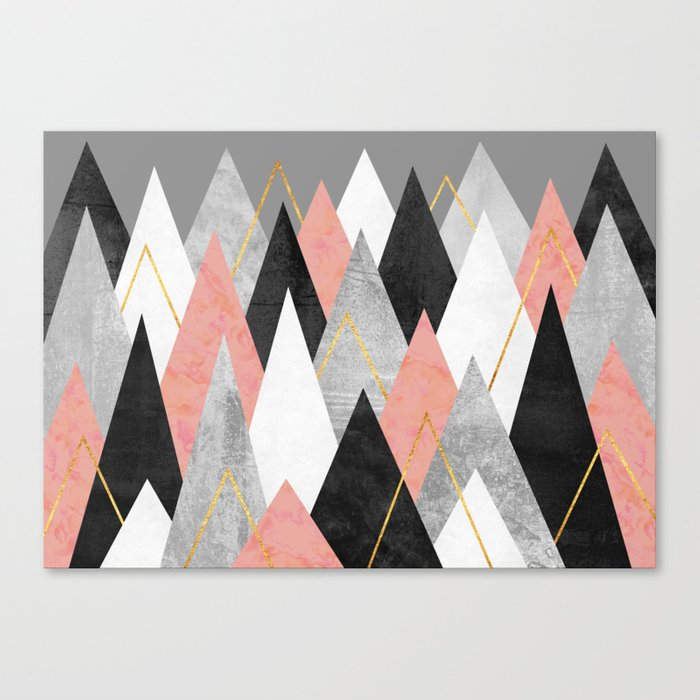 Rose Peaks Canvas Print