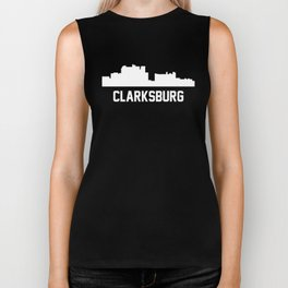Clarksburg West Virginia Skyline Cityscape Biker Tank