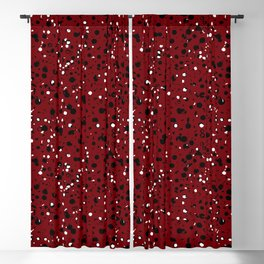 Speckled Red Blackout Curtain