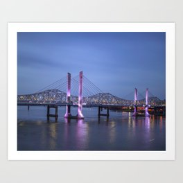 Lincoln Bridge Louisville, KY Art Print