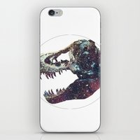 trex iPhone & iPod Skins featuring Galaxy trex by Fallen amongst the wolves