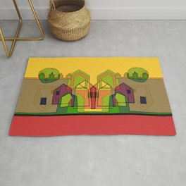Two Suns Above the Village Rug